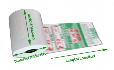 thermal paper length