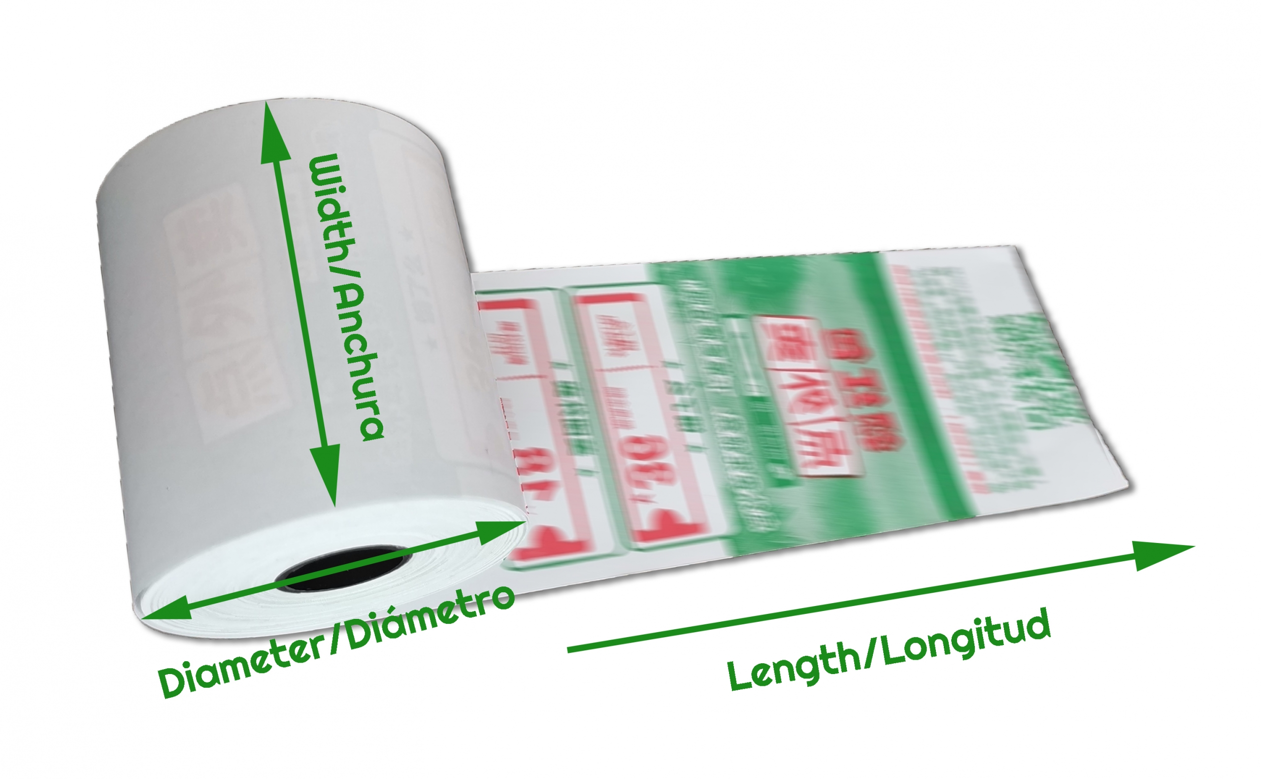 thermal paper length